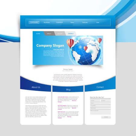 page views: Business Website design template. Vector Design. Illustration