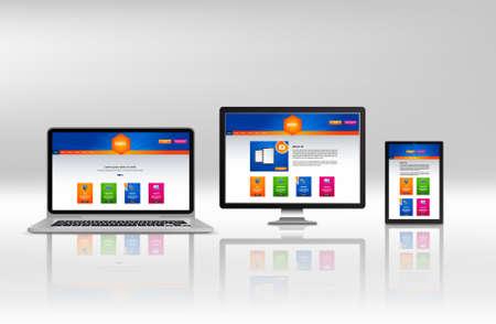 html5: Modern responsive web design in vector website