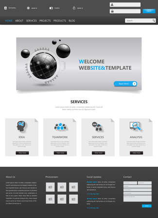 page layout: Website Design Template Vector
