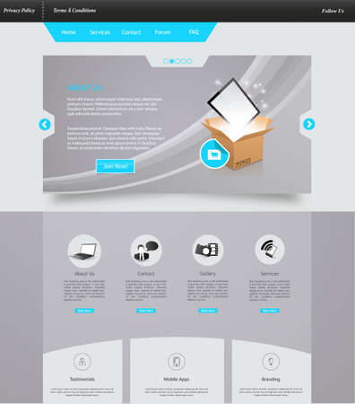 desing: Elegant Website Template Technology Desing