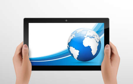 wordpress: Generic tablet PC with globe