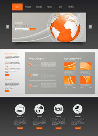 contact icon: Elegant Business Website Template Desing Illustration