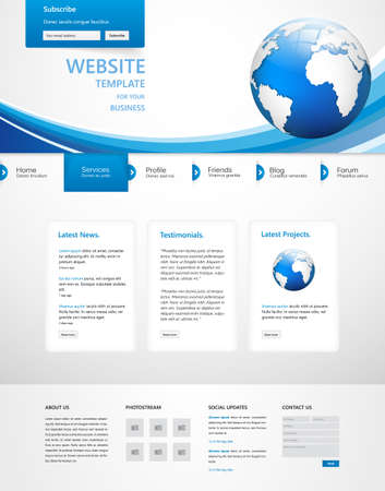 template: Business Website Template Vector Design Illustration