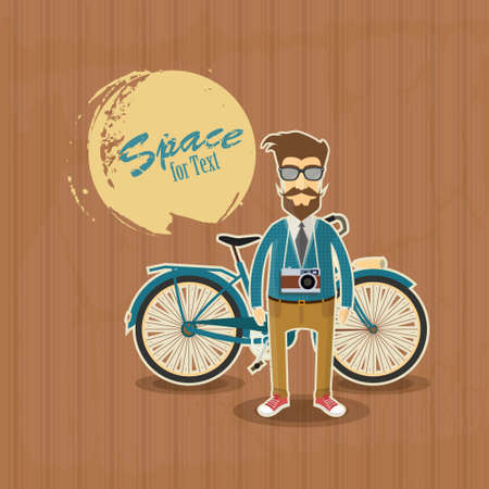 character design: Hipster Character Design