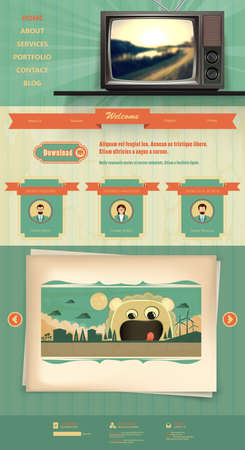 layout design template: Vintage website template design elements