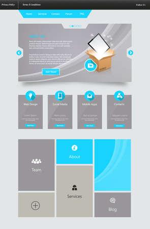 box size: Elegant Website Template Technology Desing