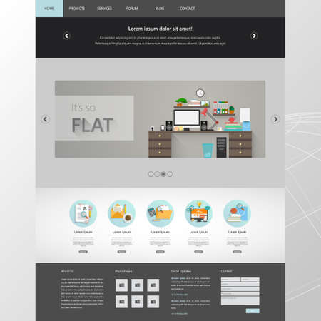 Website Design Template Vector Modern Flat