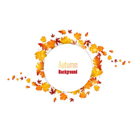 autumn leaves background: Autumn abstract floral background with place for your text
