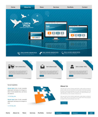 vector web design elements: Design for the website. Creative web design vector Illustration