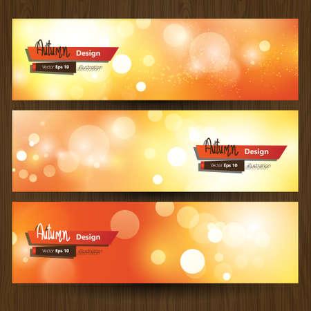 bilboard: natural bokeh autumn banner design