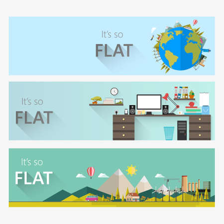 ressources naturelles: Flat design concepts for business, natural resources, consulting, teamwork, great idea. Concepts for web banners and promotional materials.