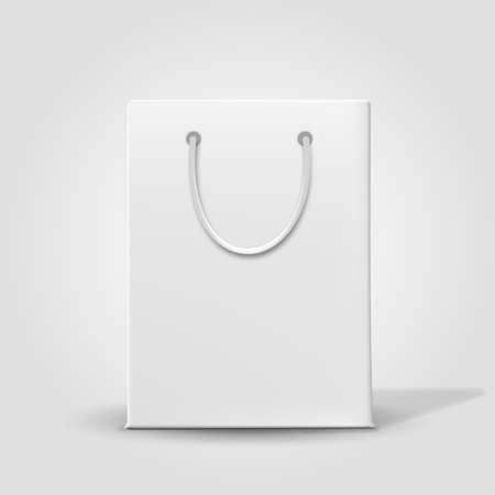 Shopping bag papier isolé sur blanc. Vecteur