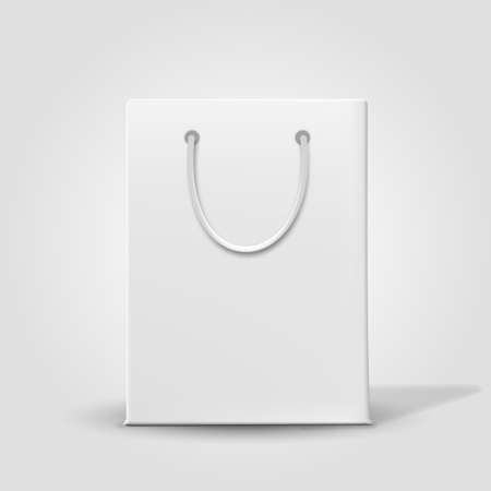 fashion bag: Shopping paper bag isolated on white. Vector