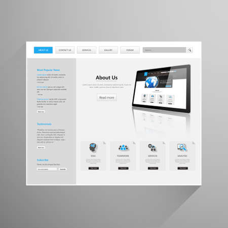 tabs: Modern Clean Business Website Template Design, Editable Vector Illustration.