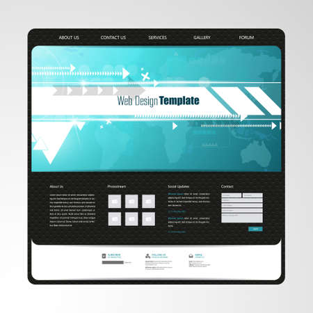 website header: Website templates with abstract technology header