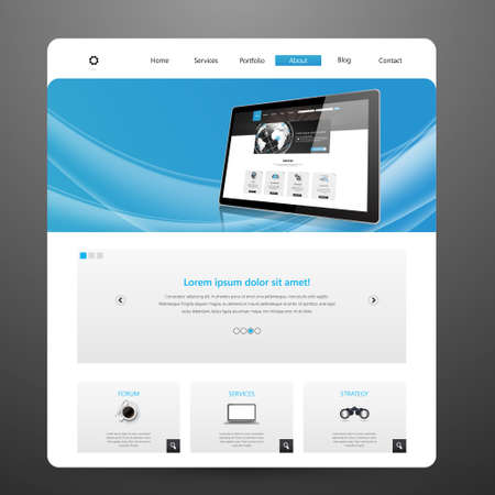 page site: Modern Business Website Template Vector Illustration