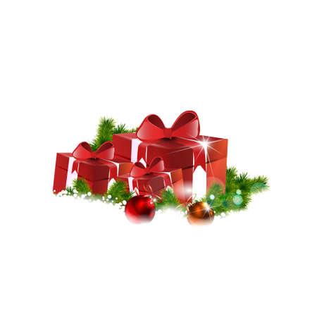 christmas gifts: Christmas gifts vector image