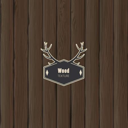 close p: Wood texture, vector illustration