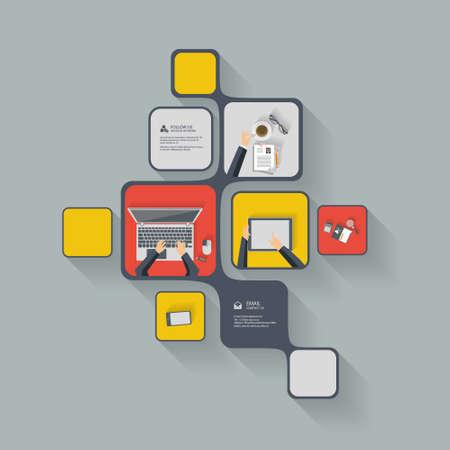 eps: Flat Design Eps 10 Vector Infographics Illustration