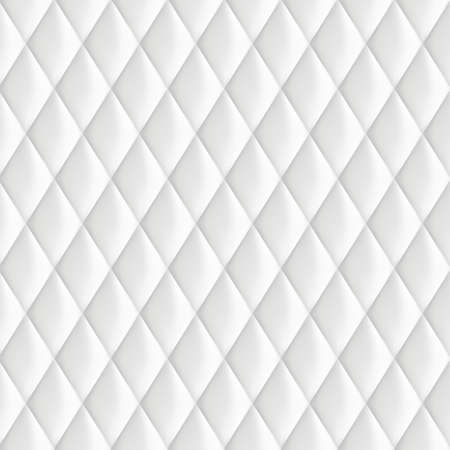 Abstract background texture of an old natural luxury, contemporary style with leather rhombs. Classic white, light gray and dark skin of grungy retro wall, door, or sofa studio interior with metal buttons. Illustration