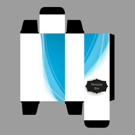 perfume spray: Perfume Box Design Template, Vector, Illustration