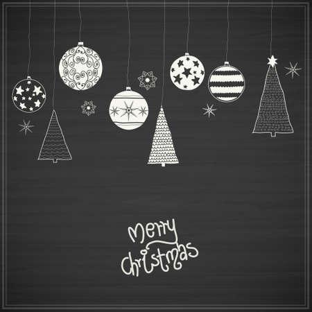 cintas  navide�as: lentejuelas de Navidad. Mano - dibujado colecci�n de decoraci�n de Navidad
