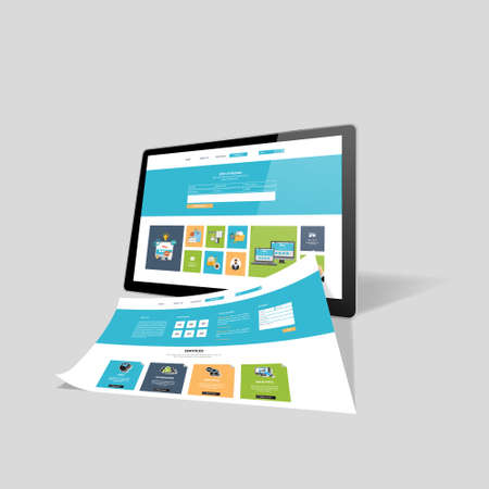 Web design concept, vector illustration