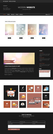 harm: Clean Modern One page website design template. All in one set for website design includes harm one page website template.