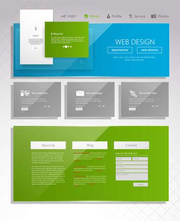 Modern website design template. Vector Design.
