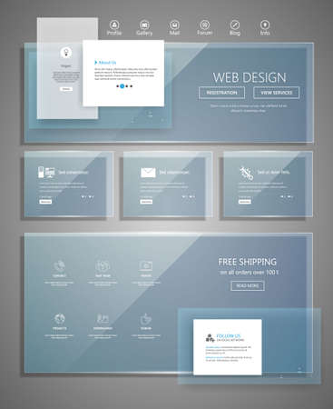 web elements: Modern website design template. Vector Design. Illustration