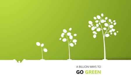 economic botany: Tree growth eco concept design, vector Illustration
