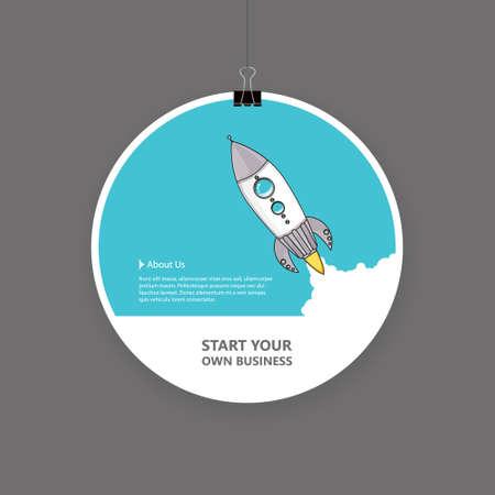 desing: Startup business emblem desing. Illustration