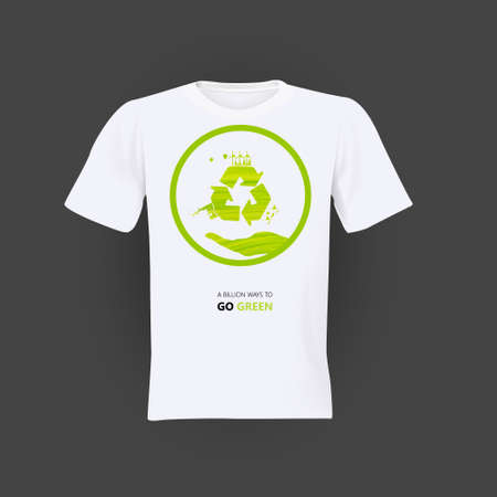 Verde Eco ricicla camicia design