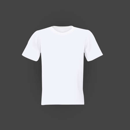 tshirt template: white T-shirt template isolated on black background Illustration