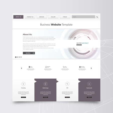 sg: Clean Website Template, Vector Design