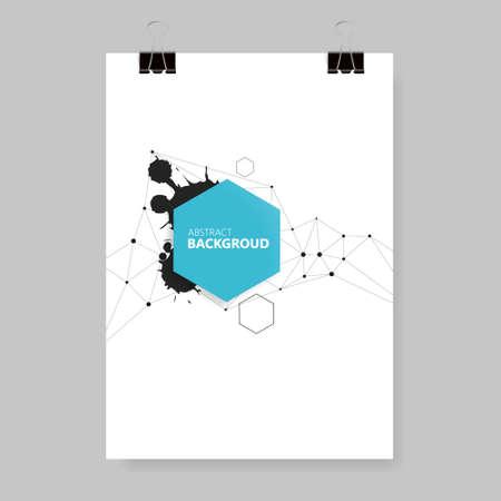 Modello di progettazione poster poster. Flyer di uso multiuso - festival di musica, mostra d'arte, brochure aziendale, copertina. Dimensione A4.