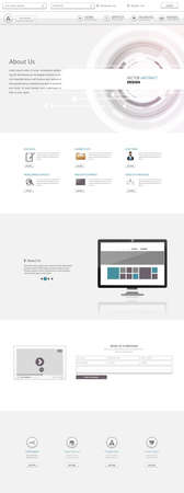 sg: Clean One Page Website Template, Vector Design Illustration
