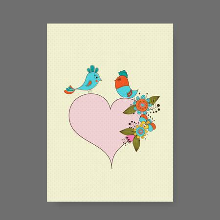 rt: Vintage Greetings  Wedding card design vector
