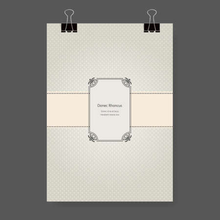 Brochures In Vintage Style. Vector Design Templates. Vintage ...