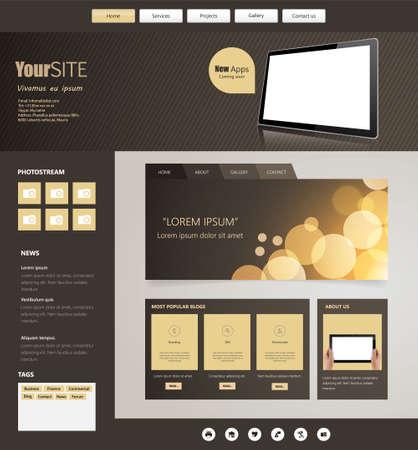 website: Vector Website Design Template