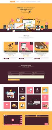 wordpress: Flat Design Website Template Illustration