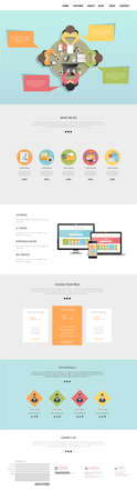 wordpress: Flat One Page Website Design Template