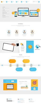 One Page Website Template.