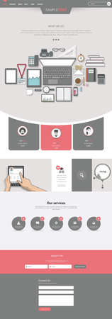 creative workplace one page website design template