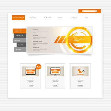 clean home: Business website template - home page design - clean and simple - with a space for a text Illustration