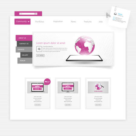 Business website template - home page design - clean and simple - with a space for a text Illustration
