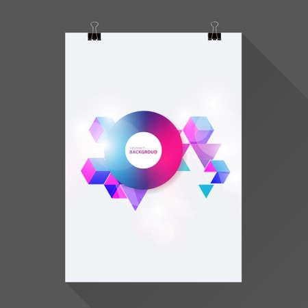Abstract brochure or flyer design template. Book design, blank, print design journal.