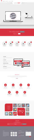 harm: One page website design template. All in one set for website design templates harm includes one page website, flat design concept and illustrations.