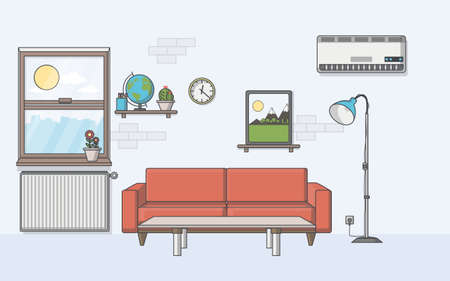 living room design: Quality flat design, illustration living room. Illustration