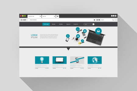 Vector web browser with website design